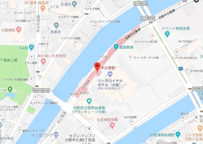 中之島駅周辺