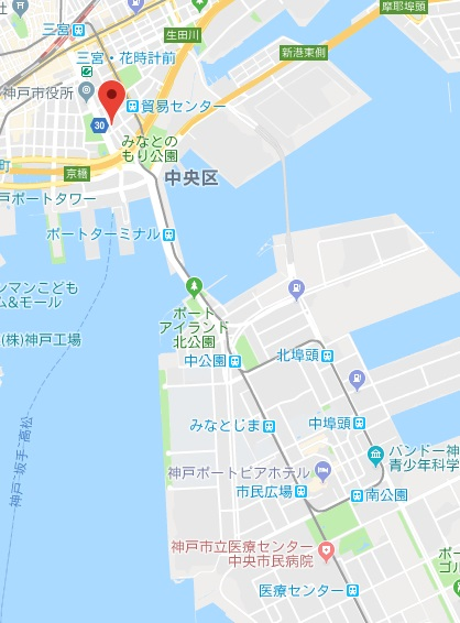 神戸三宮グランドタワーから病院まで