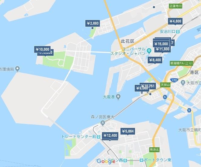 大阪ベイエリア ホテルマップ-min