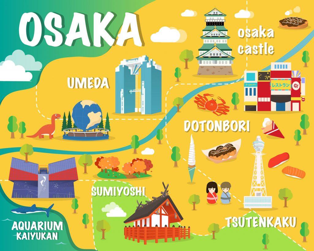 大阪観光イラスト