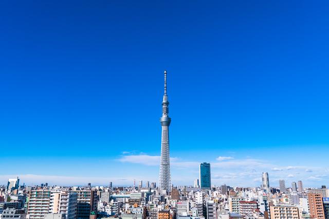 東京スカイツリーと街並み
