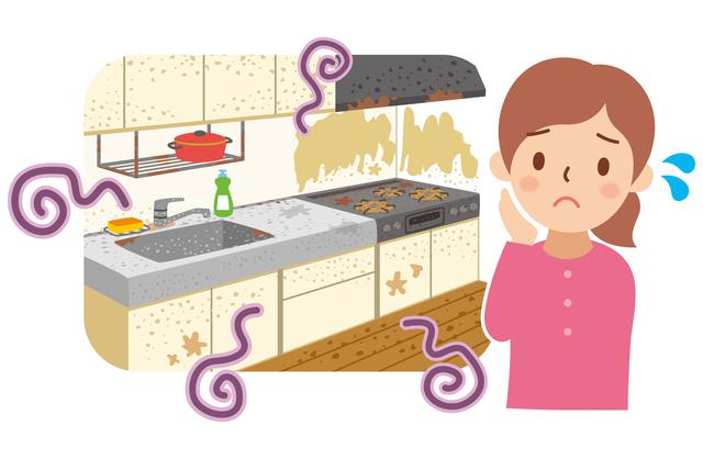 キッチン 汚れ